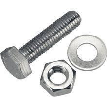 Allied Bolt, Hex Bolt, 1/2 Inch, 2 Inch, Flat and Split Washer, Nut, 304 Stainless Steel
