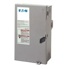 Cutler-Hammer DG321URB General Duty Non-Fusible Safety Switch, 240 VAC, 30 A, 3 hp/7-1/2 hp, TPST Contact Form, 3 Poles