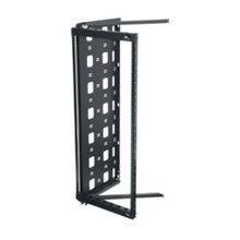 Middle Atlantic® SFR-12-18 Swing Frame Rack, Height: 27-1/4 in, 24 in Depth, Powder Coat, Black, Mounting: Wall
