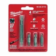 Milwaukee® ECX™ Replacement Bit Set, 4 Pieces, For Use With Multi Bit Screwdrivers, Steel