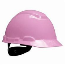 3M™ H-700 Cap Style Heavy Duty Non-Vented Short Brim Hard Hat, Pink, 4-Point Ratchet Suspension, HDPE, Class G and E