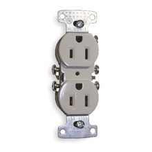 Hubbell, Duplex Receptacle, Residential, 15 Ampere, 125 Volts, NEMA 5-15R, Ivory