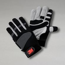 3M™ WG Work Gloves, M, Black/Gray, Synthetic Suede Leather