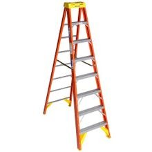 Werner® 6208 Type IA Step Ladder, 8 ft H, 300 lb Load, A14.5 ANSI, Fiberglass, 7 Steps