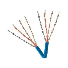Belden, CAT 5E Cable, 24 AWG, Solid, Cat5e, Copper, 4-Pairs, Blue, PVC, Unshielded, Plenum