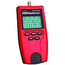 Platinum Tools, VDV Mapmaster Tester, Alkaline, 9 Volts, 6.4 Inch, 2.8 Inch, 1.4 Inch, 2.75 oz