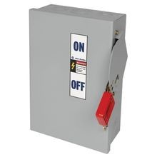 Allen-Bradley, 1494H Heavy Duty Safety Switch,  200A 600V AC Fusible Disconnect Switch, Type 1 General Purpose Painted Metal Enclosure, Door Latch