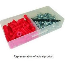 Stewart Fastener, Anchor Kit, #12 x 1 Inch, Box, Anchor;Pan Head Screw, Anchor Kit