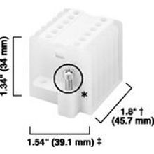 Allen-Bradley, 1492 Panel Mount Block, High-density 6-Pole