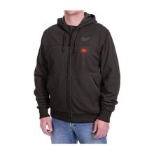Milwaukee® 301B-21L M12™ Heated Hoodie Kit, L, Men's, Black, Cotton/Polyester Blend