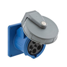 Wiring Device-Kellems HBL560R9W Watertight Pin and Sleeve Receptacle, 120/208 VAC, 60 A, 4 Poles, 5 Wires, Blue