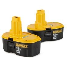 Dewalt, Battery Combo Pack, 18 Volts XRP, Nickel Cadmium, Yellow, 90 Day