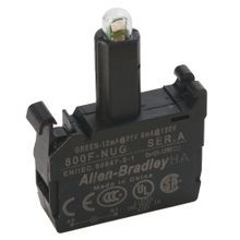 Allen-Bradley, 800F-NUG, Integrated LED, Latch Mount, 24...120V AC/DC, Green LED