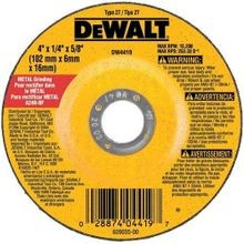 Dewalt, Depressed Center Wheel, 27, Grinding, 1/4 Inch, 4-1/2 Inch, 5/8 in - 11, 13300 RPM