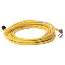 Allen-Bradley, 889D-R4FC-10, DC Micro (M12), Female, R-Ang, 4-Pin, PVC Cable, Yellow, Foil Shield w/Braid, IEC Color Coded, No Connector, 10 meter (32.8 feet)