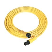 Allen-Bradley, 889D-F5ACDM-5, Patchcord: DC Micro (M12), Female, Straight, 5-Pin, PVC Cable, Yellow, Unshielded, IEC Color Coded, DC Mic, Male, Straight, 5 meter (16.4 feet)