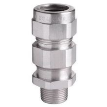 Crouse-Hinds TMC3112 Through Bulkhead Cable Gland Connector, 1 in Trade, Aluminum, Nickel Plated