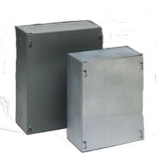 B-Line 664 SCGV NK Junction Box Without Knockout, 6 in W x 4 in D, Screw Cover, NEMA 1, Steel