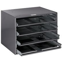 Klein® 54477 4-Box Slide Rack, 15-3/4 in L x 20 in W, Extra Large Tool Holder