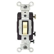 Leviton® CS120-2I Toggle Switch, 120/277 VAC, 20 A, 1/2 hp