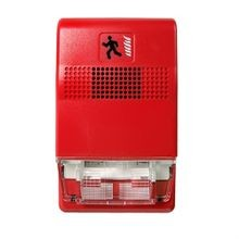 Edwards Signaling Genesis® Wall Horn/Strobe, 24 VDC, Xenon Lamp, 94.4/84.4 dB at 1 m/10 ft, Wall Mount, Red Lens