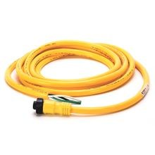Allen-Bradley, 889N-F3AFNU-6F, Patchcord: Mini/Mini Plus, Female, Straight, 3-Pin, PVC Cable, Yellow, Unshielded, IEC Color Coded, Mini, Male, Straight (Int. Threads), 6 feet (1.83 meters)