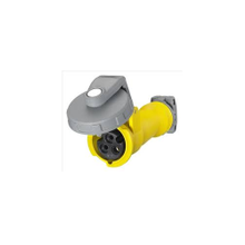 Wiring Device-Kellems HBL320C4W Watertight Pin and Sleeve Connector, 125 VAC, 20 A, 2 Poles, 3 Wires, Yellow