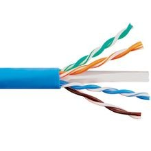 CAT 6 Cable, 23 AWG, Solid, Copper, 4 Pairs, Blue, Thermoplastic, UTP, Non-Plenum