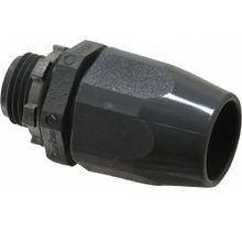 Carlon® LT43D-NEW Non-Metallic Liquidtight Conduit Connector, 1/2 in Trade, Straight, PVC