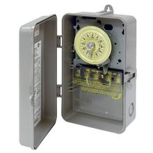 Intermatic® T101P Electromechanical Mechanical Timer, 24 hr Time Setting, 125 VAC, 5 hp, 1NO SPST Contact Form, 1 Pole