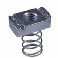 B-Line N228ZN Spring Nut, 3/8-16, 3/8 in THK, For Use With B22, B24, B26, B32 Size Channels, Steel
