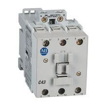 Allen-Bradley, 100-C43D10, 100-C IEC Contactor, Screw Terminals, Line Side, 43A, 1 N.O.  0 N.C. Auxiliary Contact Configuration
