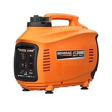 Generac® 6719 iX2000 Portable Inverter Generator, 120 VAC, 16.7 A, 2200 W Starting/2000 W Running, 127 cc Engine, 0.82 gal Fuel Tank