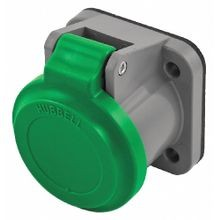 Wiring Device-Kellems HBLNCGN Weather Protective Cover, Thermoplastic Elastomer, Green