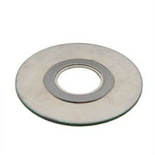 1 1/2 2500# SPIRAL WOUND GASKET 316 STAINLESS STEEL INNER RING, 316 STAINLESS STEEL WINDNG, FLEXIBLE GRAPHITE FILLER, 316 STAINLESS STEEL OUTER RING