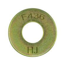 Thru Hardened USS Flat Washer, Plated