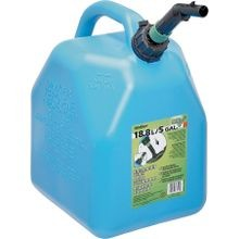 Jerry Kerosene Can, 5 Gal, 14.08 In H, 3/4 In Dia X 6 3/4 In L Self Venting Spout, Polyethylene, Blue