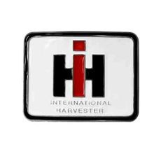 Men's White Farmall IH Logo Belt Buckle