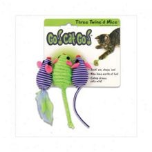 Go! Cat! Go! Three Twined Mice Cat Toy