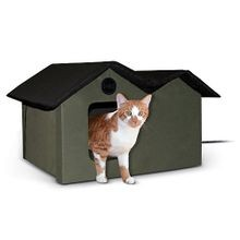 20w Outdoor Heated Extra-wide Kitty House