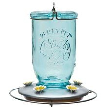 Mason Jar Hummingbird Feeder
