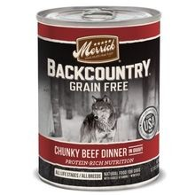 Backcountry Grain Free Chunky Beef Dinner in Gravy Canned Dog Food 12.7 oz