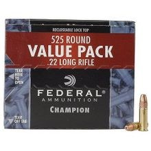 Champion 22 Rimfire High Velocity Cartidges - 525 Rounds