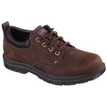 Men's Dark Brown Oxford Lace Relaxed Fit Shoe