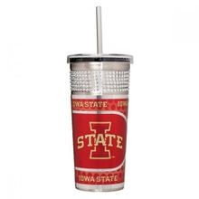 Iowa State Cyclones 16 Ounce Silver Bling Tumbler