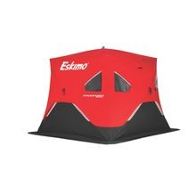 FatFish Insulated 4 Person Pop-Up Portable Ice Fishing Shelter