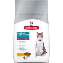 Adult 11+ Indoor Age Defying Chicken Recipe Dry Cat Food, 3.5 lb bag