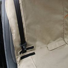 Waterproof Car Bench Seat Cover for Dogs In Hampton Sand Khaki