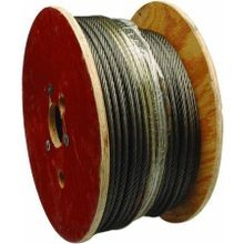 7x7 Strand Core Galvanized Steel Wire Rope on Reel  - 3/32