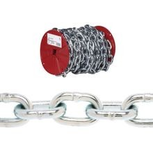 072 5027 Proof Coil Chain, 3/16 In, 100 Ft L, 800 Lb, Low Carbon Steel